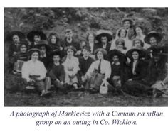 """Cumann na mBan members with Markievicz on outing in Wicklow Local History, Women In History, Ireland 1916, Irish Independence, Wild Irish Rose, Old Irish, Michael Collins, Revolutionaries, Old Photos"