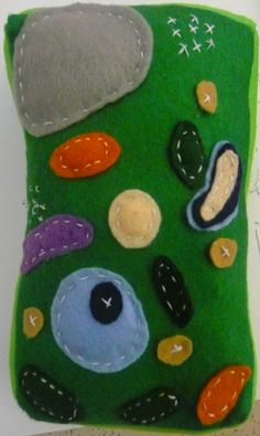 Plant Cell Pillow by Plant Cell Project, Cell Model Project, Animal Cell Project, Sewing Projects For Kids, School Projects, 3d Cell Model, Study Helper, Plant And Animal Cells, Art Connection