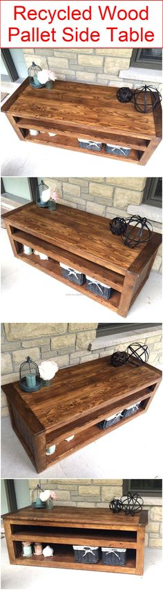 recycled-wood-pallet-side-table