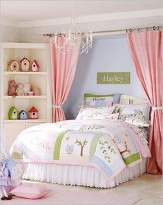 Curtain behind bed idea for behind xanders crib with name decal in the middle