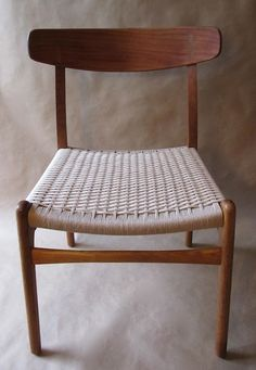 Hans Wegner CH23 chair. I would love to learn how to do that weaving
