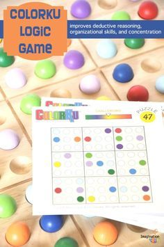 Logic games stretch kids' thinking, improving their deductive reasoning, organizational skills, and concentration. The Sudoku-like game, ColorKu, challenges kids to use the colorful marbles on a wooden grid to solve puzzles.
