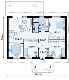 Проекты домов с тремя спальнями - лучшие готовые проекты домов с тремя спальнями в России | DOM4M