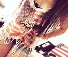 USA flag shirt fashion