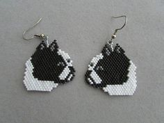 These cute beaded doggie earrings are sure to be a favorite of the Boston Terrier owner or dog lover that you know. They measure