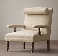 19th C. English Upholstered Bolster Chair
