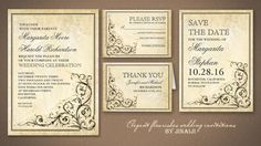 20+ Creative and Unique Vintage Wedding Invitations | 21st - Bridal World - Wedding Ideas and Trends