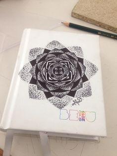 Mandala on diary Made by Mar Tattoo Mandala, Notebook, Tattoos, Tatuajes, Tattoo, Tattoo Illustration, Mandalas, Irezumi, A Tattoo