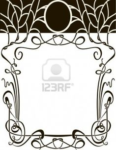 Art Nouveau Frame Vector Wedding Background Design Elements Royalty Free Cliparts, Vectors, And Stock Illustration. Image 13168057.