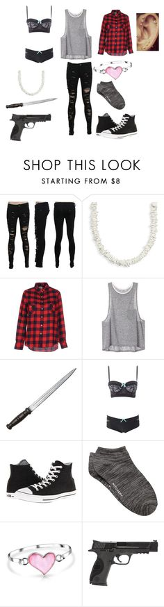 """""""The walking dead outfit #5"""" by samanthagrace9898 ❤ liked on Polyvore featuring BillyTheTree, Franklin & Marshall, Charlotte Russe, Converse, Witchery, Bling Jewelry and Smith & Wesson"""