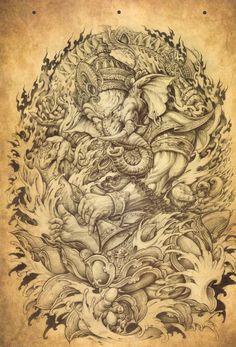 Chinese traditional tattoo book | VK Evolution Tattoo, Badass Tattoos, Body Art Tattoos, Sleeve Tattoos, Japanese Tattoo Art, Japanese Tattoo Designs, Small Girl Tattoos, Tattoos For Guys, Ganesh Tattoo
