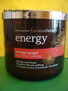 Bath & Body Works Aromatherapy Orange Ginger Candle 3 Wick