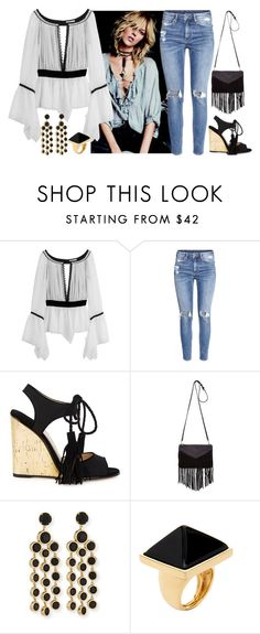 """""""boho chic"""" by sonitsa ❤ liked on Polyvore featuring Emilio Pucci, H&M, Paul Andrew, Sandro, Kate Spade and Kenneth Jay Lane"""