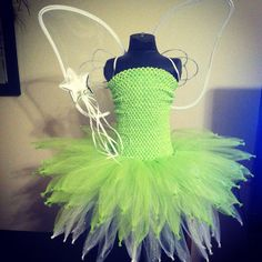 Tinkerbell tutu dress by SparklesFunCreations on Etsy, $40.00