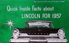 Lincoln catalog cover 1957