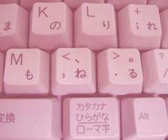 Pink, keyboard, and japanese image Baby Pink Aesthetic, Aesthetic Colors, Aesthetic Images, Aesthetic Grunge, Aesthetic Anime, Aesthetic Wallpapers, Aesthetic Pastel, Aesthetic Collage, Pink Themes