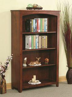 113660 Amish Maple 4-Shelf Bookcase, YT Woodcraft
