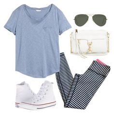 """friday!!!!"" by kcunningham1 ❤ liked on Polyvore featuring lululemon, H&M, Converse, Rebecca Minkoff and Ray-Ban"