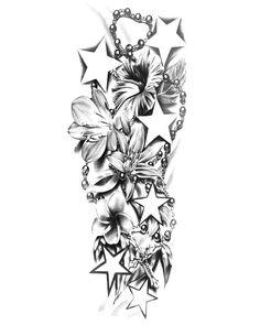 tattoos for men sleeves - Tattoo Designs Men Lily Tattoo Sleeve, Half Sleeve Tattoos Color, Half Sleeve Tattoos Lower Arm, Tattoos For Women Half Sleeve, Full Sleeve Tattoos, Tattoo Sleeve Designs, Tattoo Designs Men, Family Sleeve Tattoo, Tattoos Skull