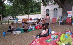 Osny, le 15 juillet. La future médiathèque d'Osny, qui ouvrira en janvier 2016, organise Tipi'Lire, tous les mercredi du mois de juillet au parc du Château de Grouchy. Lecture et jeux de société y sont proposés.