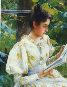 Young Woman Reading by Francis Coates Jones