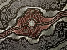 Aboriginal Art Painting by Anna Petyarre Pitjara My Country This is also a more abstract construction of patterns. It reminds me of pictures I've seen of the surface of Saturn. Aboriginal Painting, Aboriginal Artists, Dot Painting, Mandala Painting, Aboriginal People, Indigenous Australian Art, Indigenous Art, Arte Tribal, Tribal Art