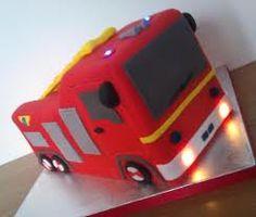 Fireman Sams Engine Jupiter with special FX working lights Fireman Sam Birthday Cake, Fireman Cake, 4th Birthday, Birthday Ideas, Birthday Cakes, Fire Engine Cake, Cake Gallery, Cakes And More, How To Make Cake