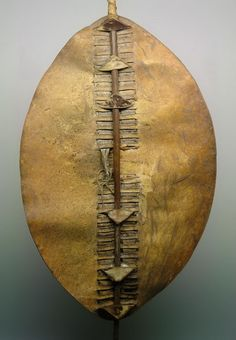 africa shield from the zulu people of south africa cow