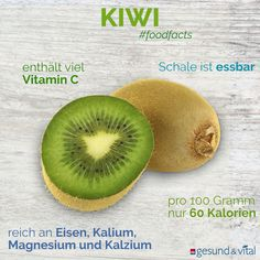 """Kiwi: little fruit, big vitamin miracle? - """"Eat more kiwi fruits"""", we are happy to recommend in the cold season. Because they supposedly conta - Kiwi Smoothie, Smoothie Menu, Fruit Smoothies, Healthy Smoothies, Smoothie Recipes, Salud Natural, Natural Foods, Smoothies For Kids, Yoga For Flexibility"""