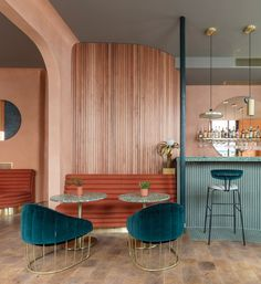 The east London design office headed by Tatjana von Stein and Gayle Noonan worked alongside restaurateur and hotelier Omar Shabaan to develop his first premises in the UK capital.