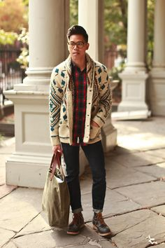 Outfit: Men's Shawl Collar Cardigan Chunky Knits - See the full post HERE FACEBOOK | TWITTER | BLOGLOVIN | PINTEREST | INSTAGRAM