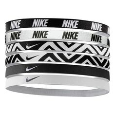 Nike Sport Headbands ($15) ❤ liked on Polyvore featuring accessories, hair accessories, bracelets, jewelry, nike, sport headbands, nike headbands, head wrap hair accessories and sports headbands