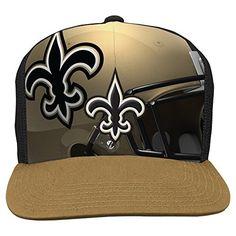 NFL New Orleans Saints Boys Stealth Flat Brim Hat with Mesh Back 5e917f8d5