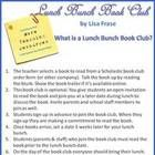 This free 3 page file is a demo of how I put together my Lunch Bunch Book Club. I invite students and parents to participate in this optional activ...