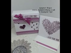 Box, 3 x 3 cards & envelopes, 3 projects in 1 Stampin' Up! - YouTube