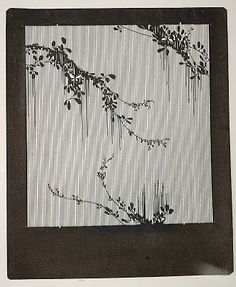 Katagami stencil.