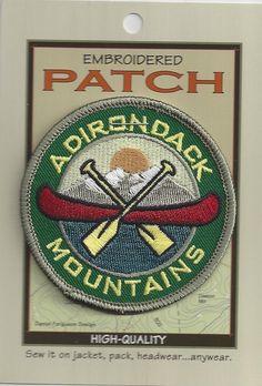 Souvenir Patch Adirondack Mountains NY Canoe   eBay