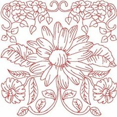Spectacular Redwork Blocks Machine Embroidery Designs | eBay