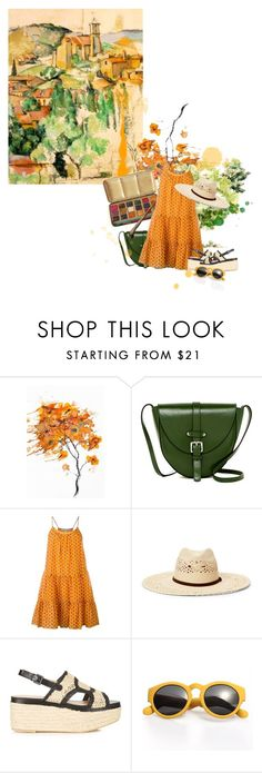 """""""Painting with Cézanne"""" by sharmarie ❤ liked on Polyvore featuring Nika, Persaman New York, Diane Von Furstenberg, Ralph Lauren and Robert Clergerie"""