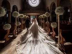 The 46-kilogram dress, which had an 8-meter veil and train, is worth more than $1 million (about £790,000).