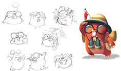 Character design for The Moleys game on Behance