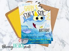 Baby Shark Song Birthday Invitation