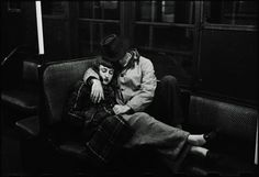 """""""Couple on the subway, 1946"""" by Stanley Kubrick #1940s #photography"""