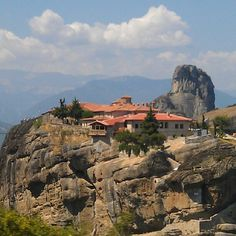 """See 1386 photos from 6501 visitors about meteora, greece, and scenic views. """"In the central Greece one of the most impressive & special places in the. Beautiful Places In The World, Hostel, Four Square, Places Ive Been, Grand Canyon, Places To Visit, City, Travel, Map"""