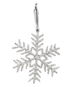 Another great find on #zulily! Silver Glass Poinsettia Snowflake Ornament by Great Finds #zulilyfinds