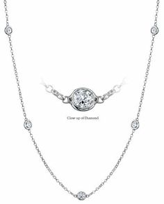 Women's Diamond By The Yard Style Necklace INCLUDES Appraisal / Certificate of Authenticity ( 1.25 Diamond Total Carat Weight | GH-SI Diamond Quality | Platinum | Length - 16 inches | 9 Diamonds ) DeBebians. $2950.00. Save 47% Off!