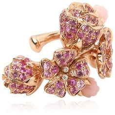 Morphee Joaillerie Women Cherry Blossom Mono Earring ($4,640) ❤ liked on Polyvore featuring jewelry, earrings, pink, cherry blossom jewelry, pink jewelry, cherry blossom earrings, earring jewelry and pink earrings