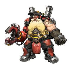 overwatch torbjorn caricature - Google Search