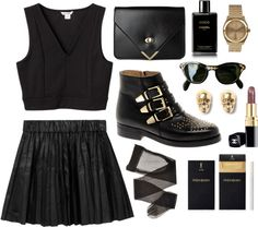 """black & gold"" by karinhadadan on Polyvore"