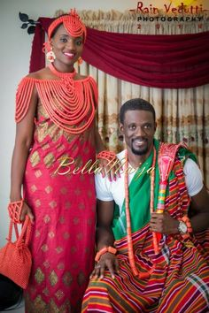 Ese Walter & Benny Ark's Traditional Wedding in Warri African Wedding Attire, African Attire, African Wear, African Dress, Nigerian Wedding Dresses Traditional, Traditional Wedding Attire, African Traditional Wedding, African Love, African Design